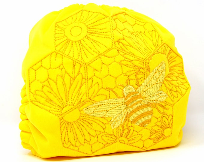 Bee & Honeycomb Cloth Diaper, Cover or Pocket Diaper (One Size)