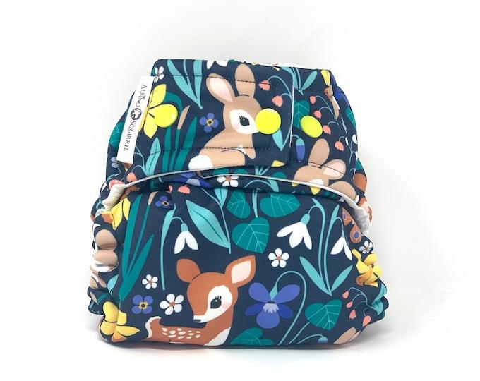 Woodland Animals Cloth Diaper Cover or Pocket Diaper