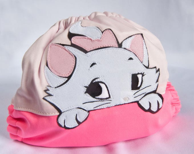 Aristocats Marie Cloth Diaper Cover or Pocket Diaper (One Size)