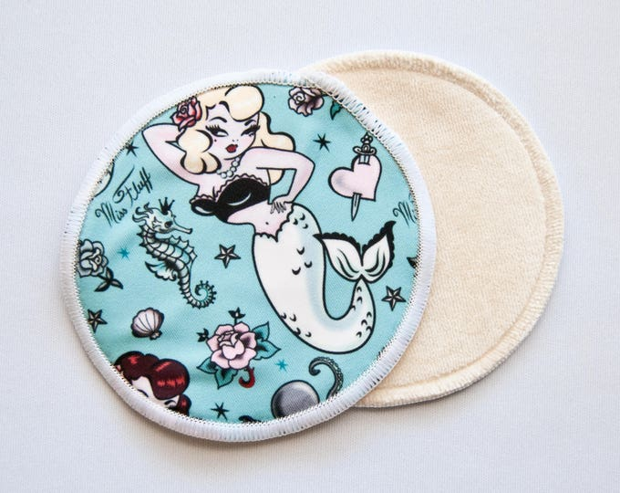 Reusable Bamboo Velour Nursing Pads - Pinup Mermaids