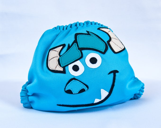 Monsters Inc, Sully Cloth Diaper Cover or Pocket Diaper (One Size)