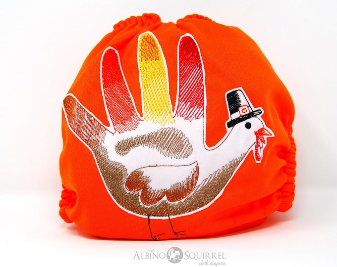 Thanksgiving Turkey Cloth Diaper, Cover or Pocket Diaper (One Size)