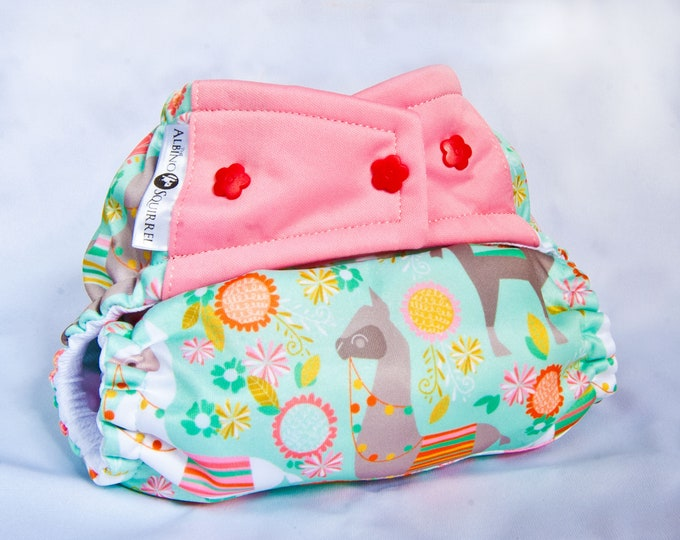 Llamas Cloth Diaper Cover or Pocket Diaper (One Size)