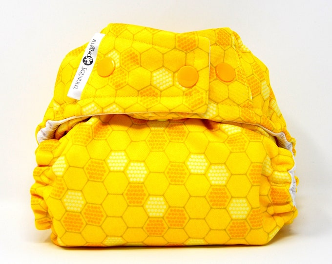 Honeycomb Cloth Diaper Cover or Pocket Diaper (One Size) Baby Shower Gift