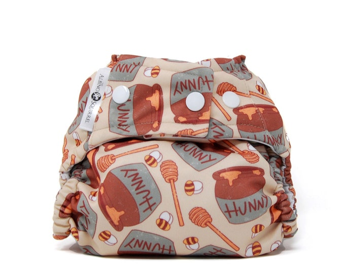 Hunny Bees Diaper Cover or Pocket Diaper (One Size) Baby Shower Gift