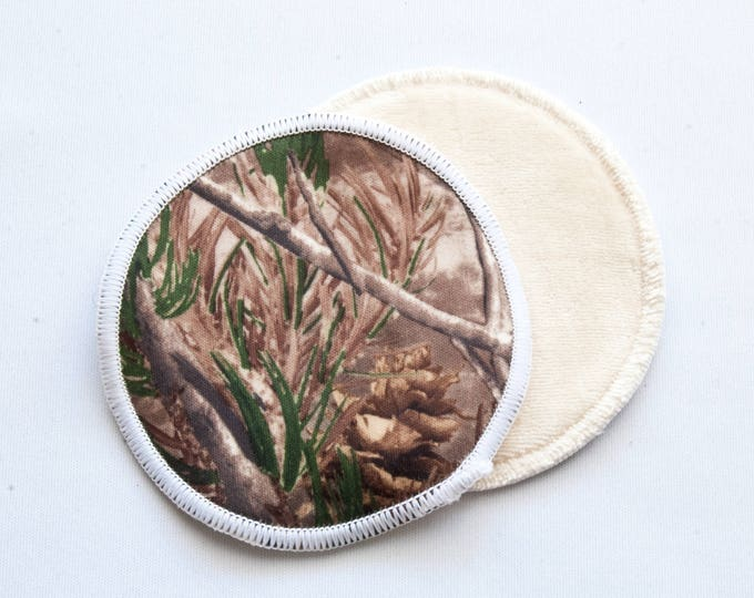 Camouflage Reusable Bamboo Velour Nursing Pads