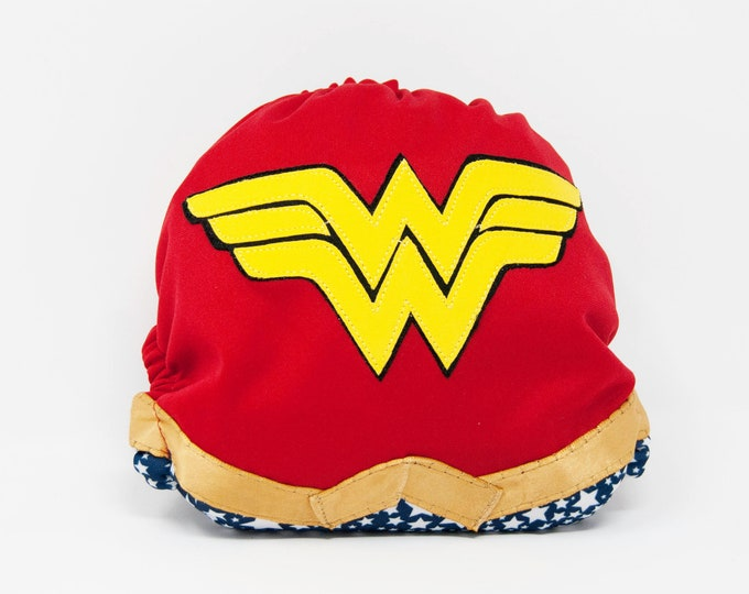 Wonder Woman Superhero Baby Cloth Diaper Cover or Pocket Diaper (One Size)