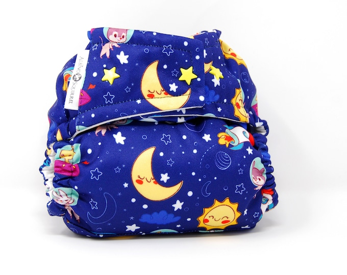 Astronauts Cloth Diaper Cover  (One Size) Ready to Ship