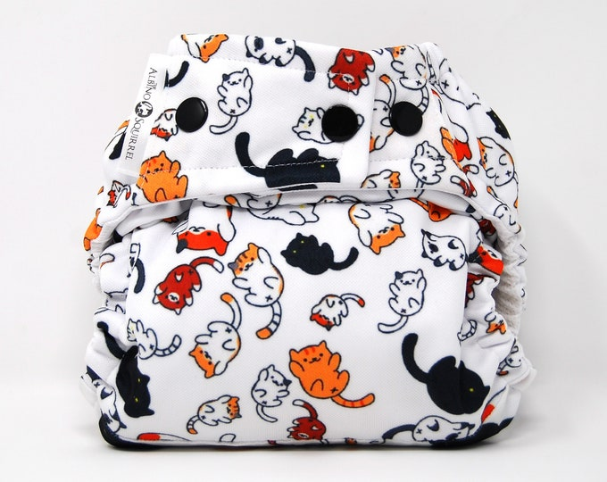 Kitties Cloth Diaper Cover or Pocket Diaper (One Size)