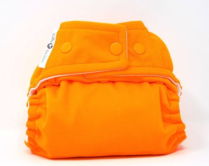Orange Cloth Diaper, Pocket Diaper, Diaper Cover