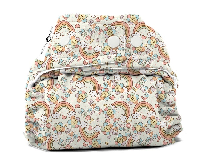 PRE-ORDER : Rainbows Diaper Cover or Pocket Diaper (One Size) Baby Shower Gift