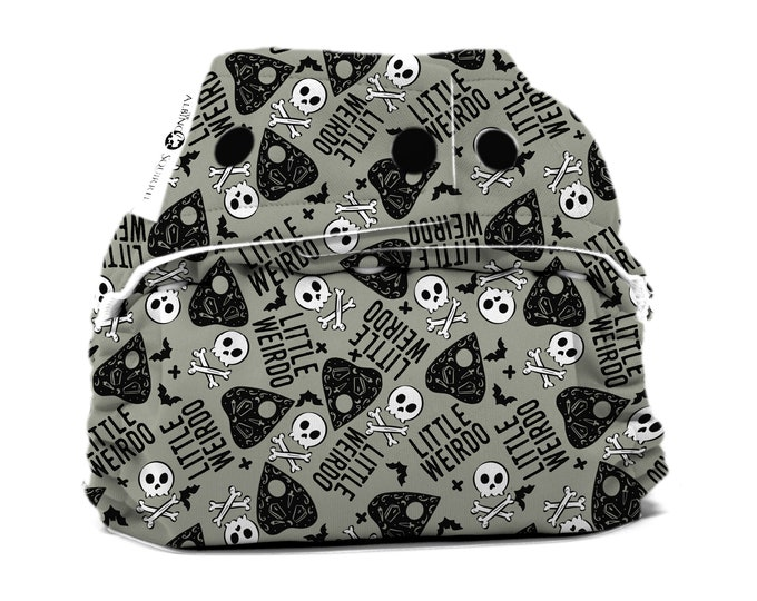 PRE-ORDER : Little Weirdo Diaper Cover or Pocket Diaper (One Size) Baby Shower Gift