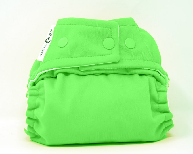 Spring Green Cloth Diaper, Pocket Diaper, Diaper Cover