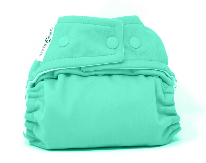 Mint Green Cloth Diaper, Pocket Diaper, Diaper Cover