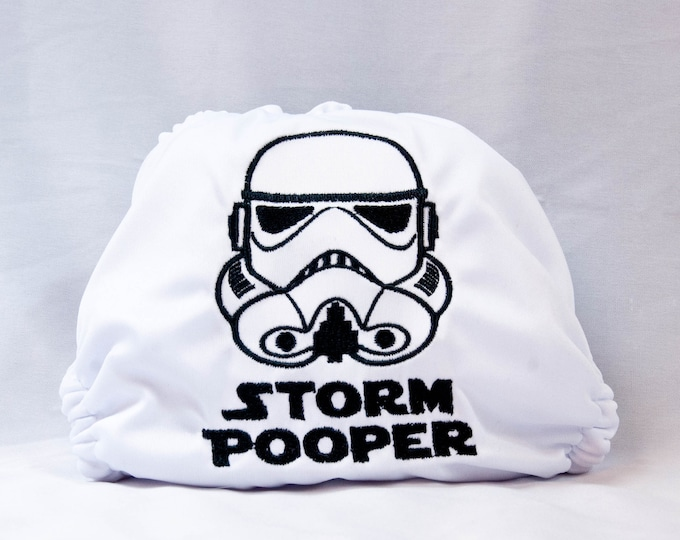 Storm Pooper Baby Cloth Diaper, Cover or Pocket Diaper (One Size)