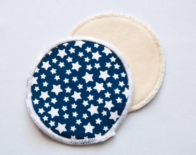 Stars Reusable Bamboo Velour Nursing Pads