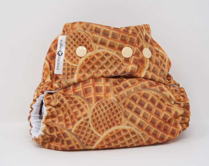 Cloth Diaper : Waffles Diaper Cover or Pocket Diaper (One Size) Baby Shower Gift