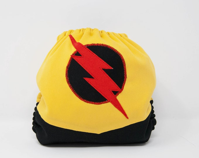 The Reverse Flash / Superhero / Supervillian / Baby Cloth Diaper Cover or Pocket Diaper (One Size)