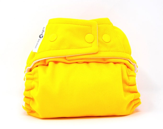 Bright Yellow Cloth Diaper, Pocket Diaper, Diaper Cover
