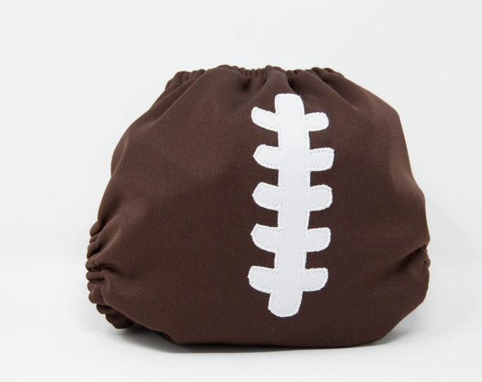 Football Cloth Diaper Cover or Pocket Diaper (One Size)
