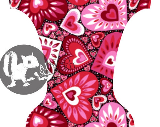 Valentine Hearts Cloth Diaper Cover or Pocket Diaper (One Size)