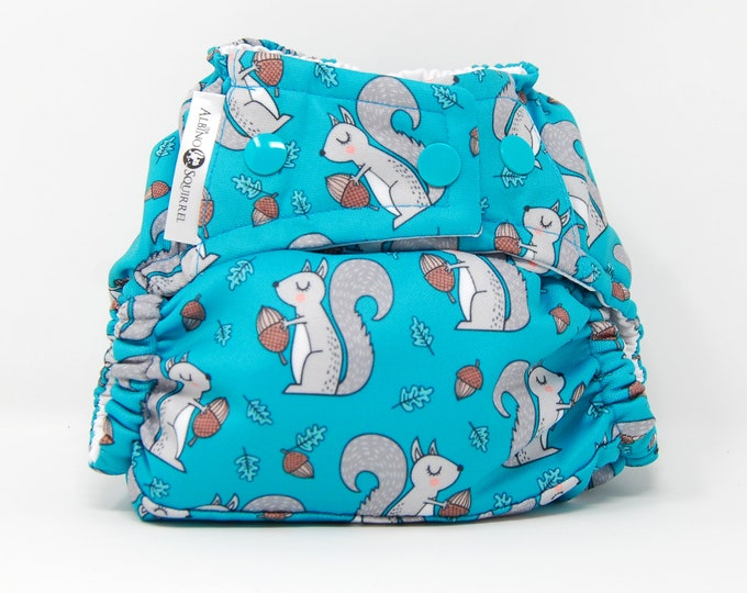Squirrels Diaper Cover or Pocket Diaper (One Size)