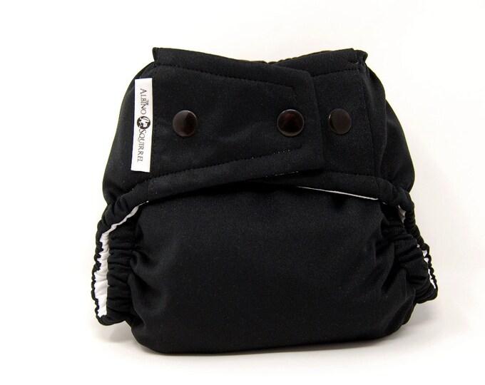 Black Cloth Diaper, Pocket Diaper, Diaper Cover