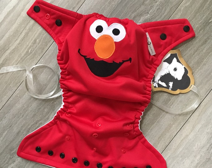 Elmo Baby Cloth Diaper Cover or Pocket Diaper (One Size)