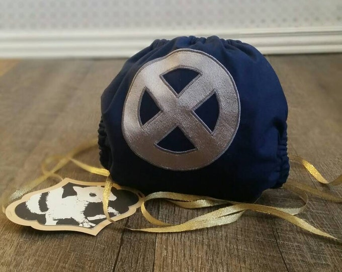 X Men Cloth Diaper Cover or Pocket Diaper (One Size)