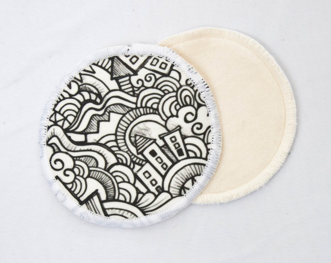 Reusable Bamboo Velour Nursing Pads - Sketch Drawings