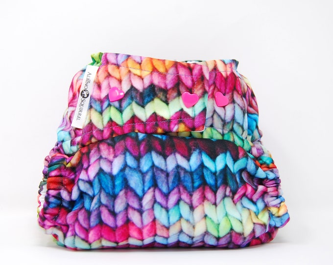 Knit Cloth Diaper Cover or Pocket Diaper (One Size)