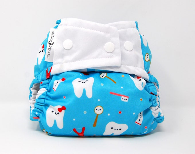 Sweet Tooth Cloth Diaper Cover or Pocket Diaper (One Size)