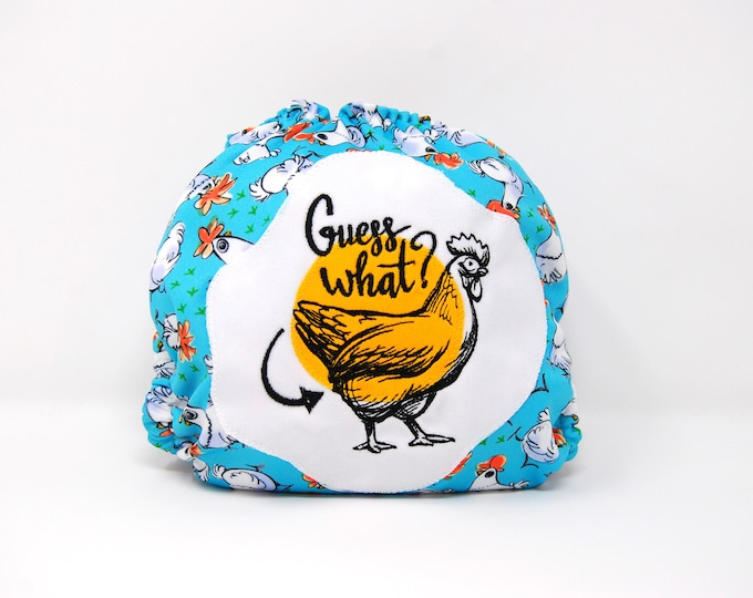 Chicken Butt Cloth Diaper Cover or Pocket Diaper (One Size)