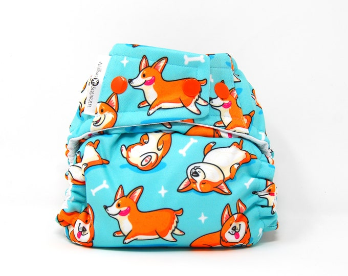 Corgi Cloth Diaper Cover or Pocket Diaper (One Size)