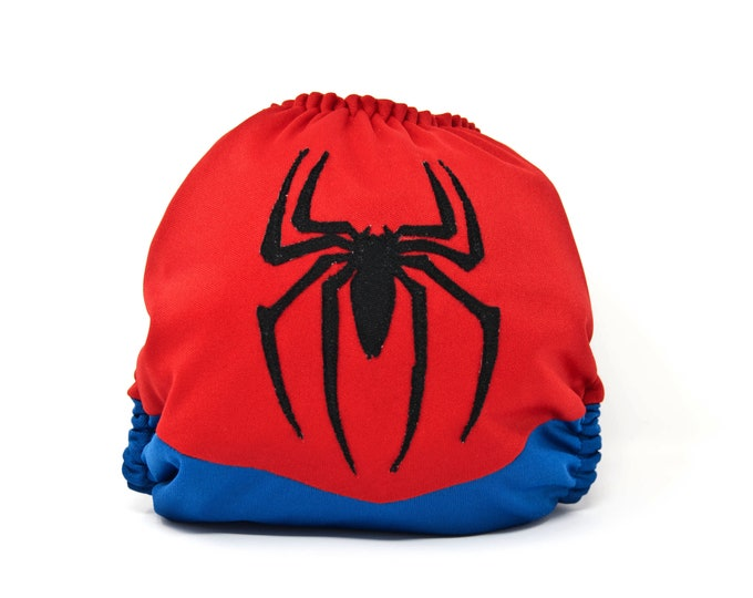 Spiderman Superhero Cloth Diaper Cover or Pocket Diaper (One Size)