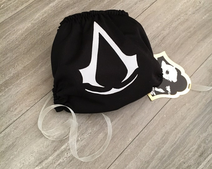 Assassin's Creed Cloth Diaper Cover or Pocket Diaper (One Size)