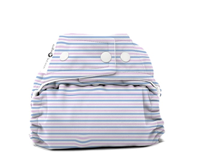PRE-ORDER: Baby Blanket Stripes Cloth Diaper Cover or Pocket Diaper (One Size) Baby Shower Gift