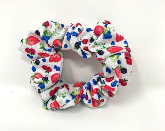 Strawberries & Blueberries Scrunchy