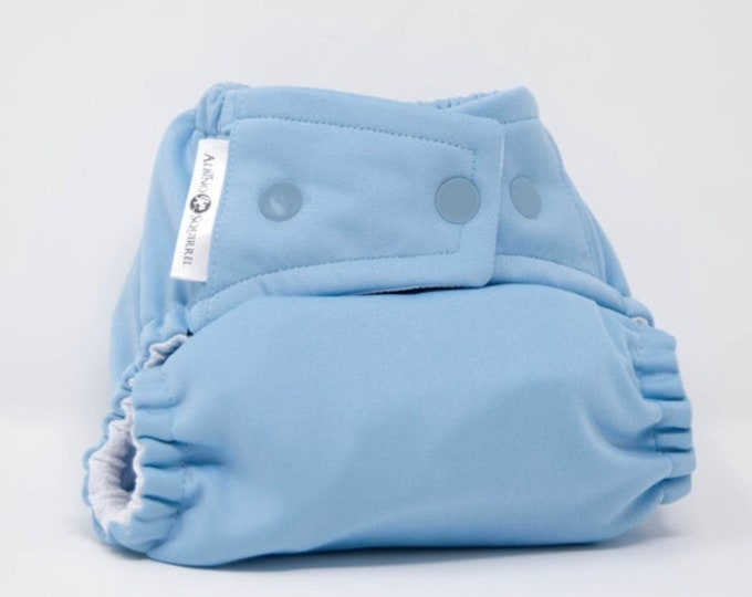Light Blue Cloth Diaper, Pocket Diaper, Diaper Cover
