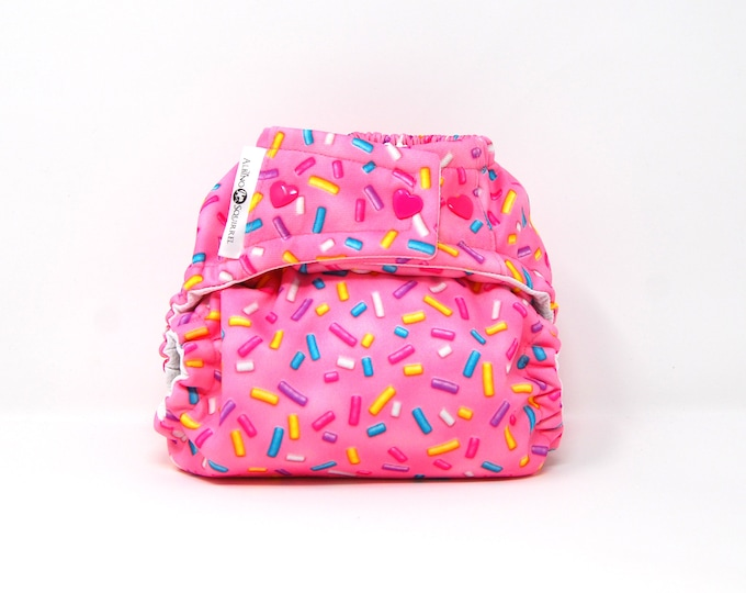 Candy Sprinkles Cloth Diaper Cover or Pocket Diaper (One Size)