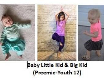 BUNDLE 3 All the KID SIZES Polliwog Pants (preemie-youth12)