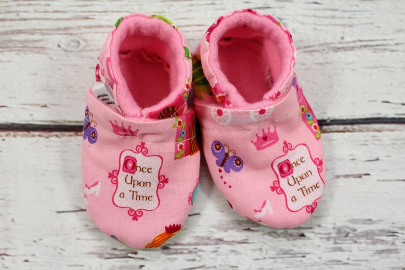 baby girl princess crib shoes - toddler stay on non slip slippers - 6-12  month baby shoes - baby shower gift