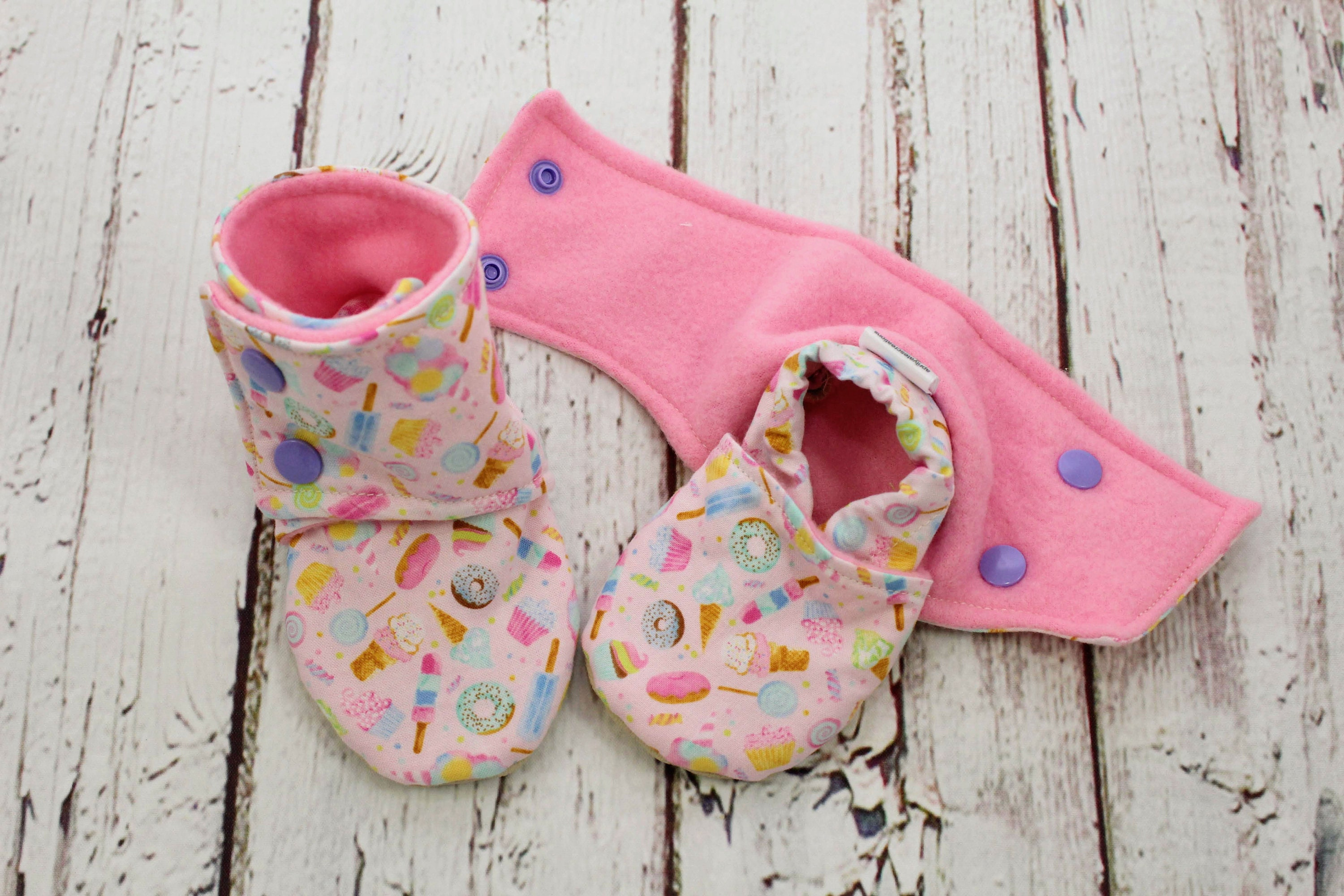 db359210b834b candy baby booties - non slip baby shoes - baby boots - stay on booties -  9-12 month baby booties - girl baby booties - baby shower gift
