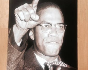 Malcolm X poster By Any Means Necessary 24 x 36 Autobiography