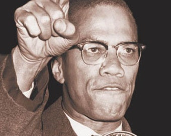 MALCOLM X By Any Means Possible POSTER   1990'S  24 X 36