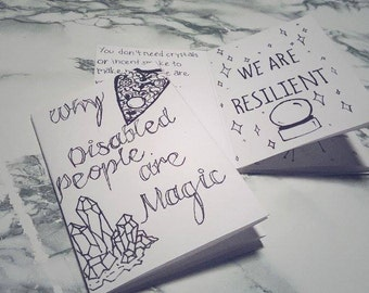 Why Disabled People Are Magic Zine, Affirmations for People with Disabilities, Breaking Down Internalized Ableism, Self Care