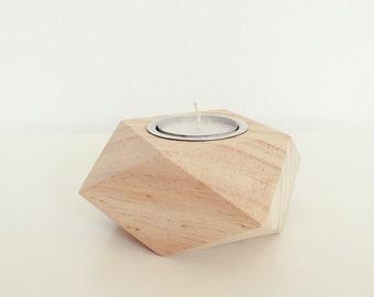 "1 Ahoj-2012 holder ""geometry"", cube, 1 pcs ""geometry"" Wohnaccesoires, Dekortion, light source, triangles, trend, black, wood,"
