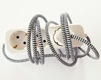 "Ahoj-2012 Extension Cable ""zig-zag"" 2.5 m, socket, Zik-zak, geometry, lighting, lamp, light, light source"