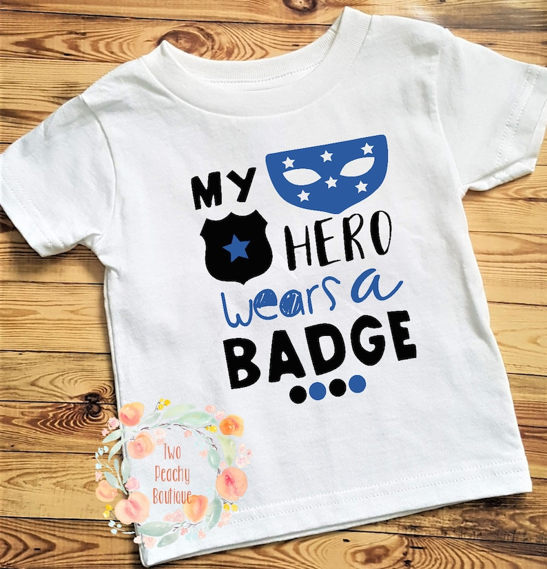 My Hero Wears A Badge I Call Her Mommy Cute Police Officer Infant Baby Romper