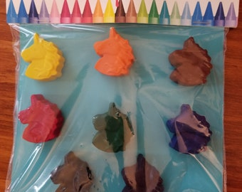Unicorn Crayons - 8 piece set - Birthday party favors - Gift